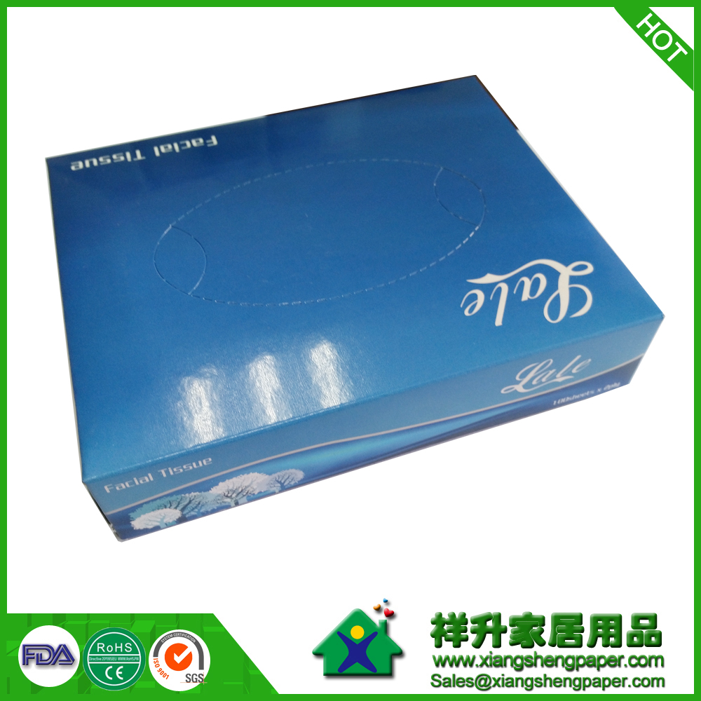 Premium Quality and Softness Flat Small Cube Advertising Box Facial Tissue   Paper wholesale