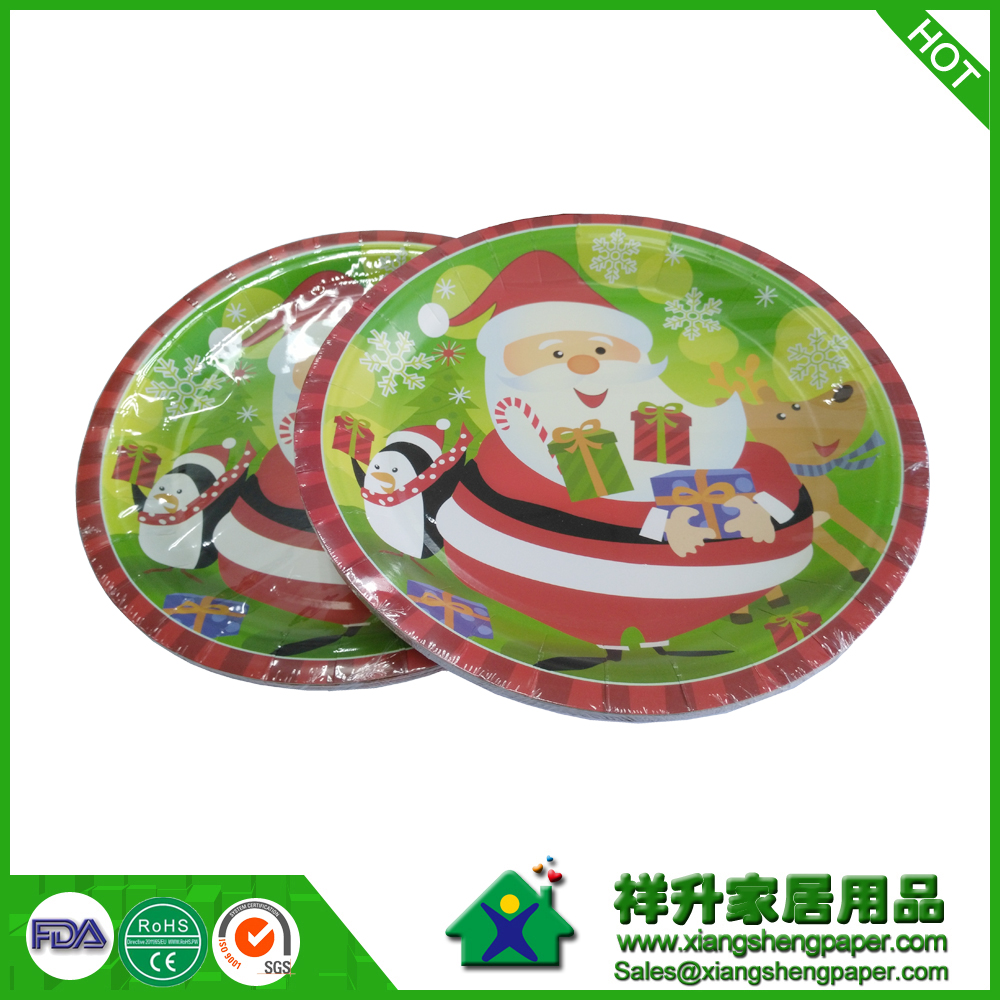 Wholesale High quality Disposable Fashion Design Custom Party Paper Plates and Colored Trays